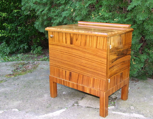 Art Deco Palisander Side Cabinet, Nightstand or Telephone Table.