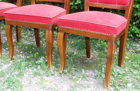 Antique dining chairs.