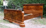 Art Deco double bed.