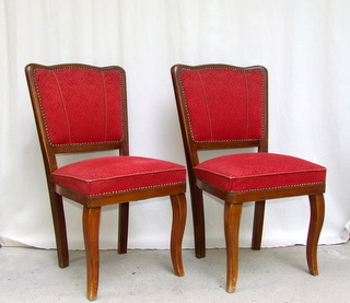 Pair of Art Deco Dining Chairs.