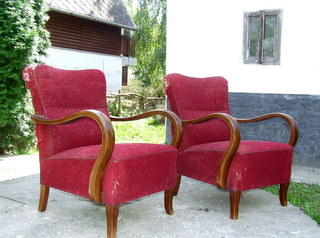 Superb pair of Art Deco Armchairs.