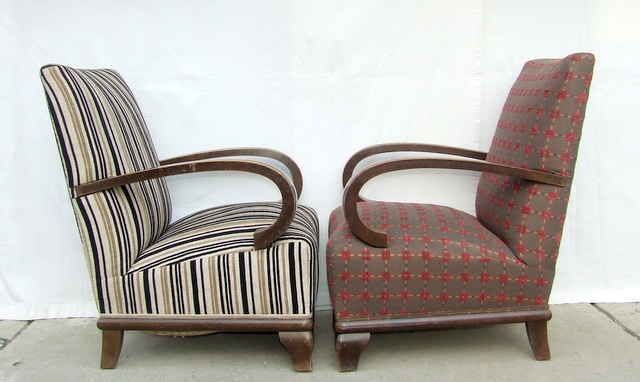 Antique armchairs.