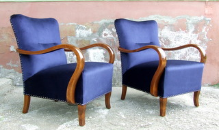Pair of Art Deco Armchairs. £795