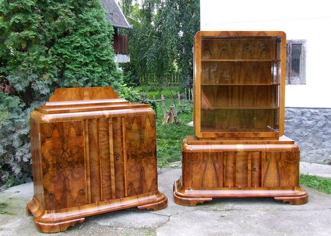 Art Deco Dispay Cabinet & Sideboard.