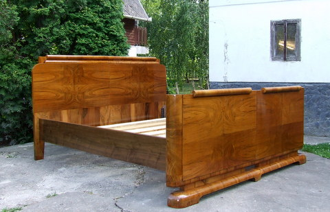 Art deco 39 superking 39 size double bed - Deco volwassen bed ...